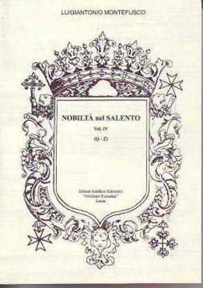 Immagine di NOBILTA` NEL SALENTO VOL.4° (Q-Z)