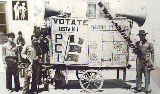 Immagine di CARTOLINA 10 X 17 ELEZIONI PROVINCIALI 1948 PCI