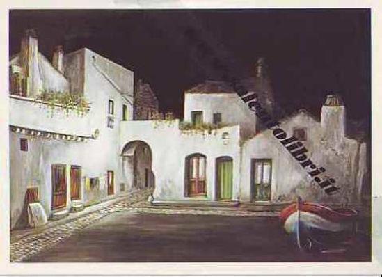 Immagine di CARTOLINA 11 X 16 QUADRO G. SCANDEREBECH - FELLINE DI NOTTE