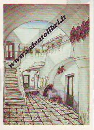 Immagine di CARTOLINA 11 X 16 QUADRO G. SCANDEREBECH - RUFFANO: CORTE IN VIA MONS. D`URSO