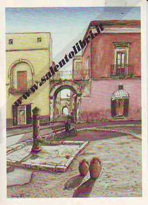 Immagine di CARTOLINA 11 X 16 QUADRO G. SCANDEREBECH - RUFFANO: PIAZZA N. SAURO