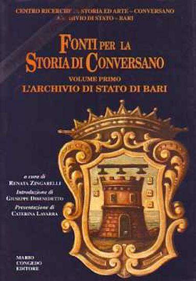 Immagine di Fonti per la storia di Conversano (vol.1°) L'archivio di stato di bari