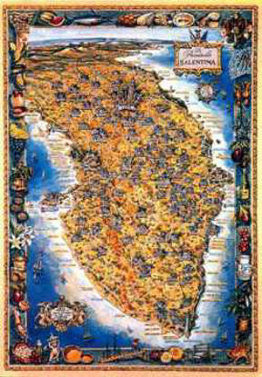 Immagine di La Penisola Salentina mod. B Poster 100x70 prodotti tipici