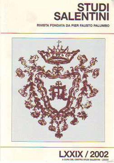 Immagine di Studi salentini. Archivio capitolare di Grottaglie.  LXXIX 2002