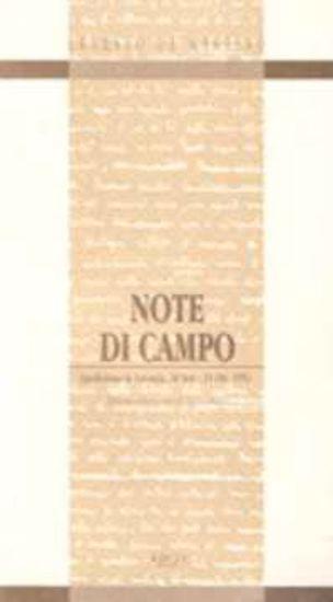 Immagine di NOTE DI CAMPO - LUCANIA 1952