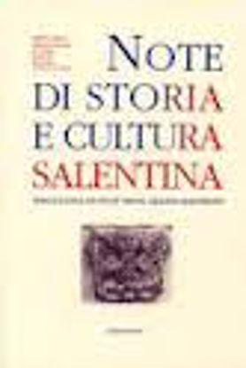 "Immagine di Note di Storia e Cultura Salentina. 24° / 2014 Miscellanea di Studi ""Mons. Grazio Gianfreda"""