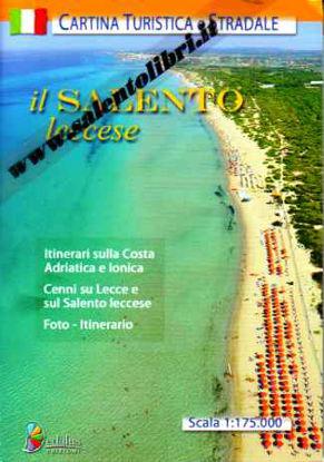 Immagine di Il Salento Leccese. Mappa o Cartina turistica