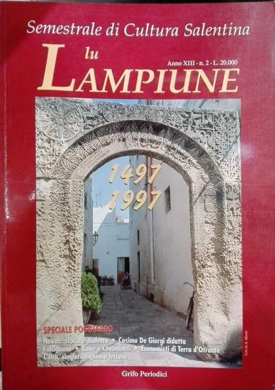Immagine di Lu Lampiune Quadrimestrale di Cultura Salentina Anno 13 n°2 Agosto 1997