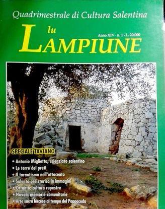 Immagine di Lu Lampiune Quadrimestrale di Cultura Salentina Anno 14 N°1 aprile 1998