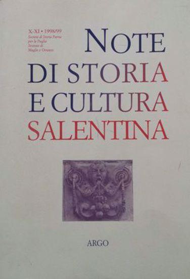 Immagine di NOTE DI STORIA E CULTURA SALENTINA. VOL. 11 - 1998 / 1999