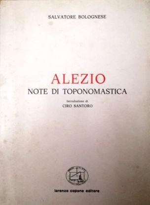 Immagine di ALEZIO. NOTE DI TOPONOMASTICA